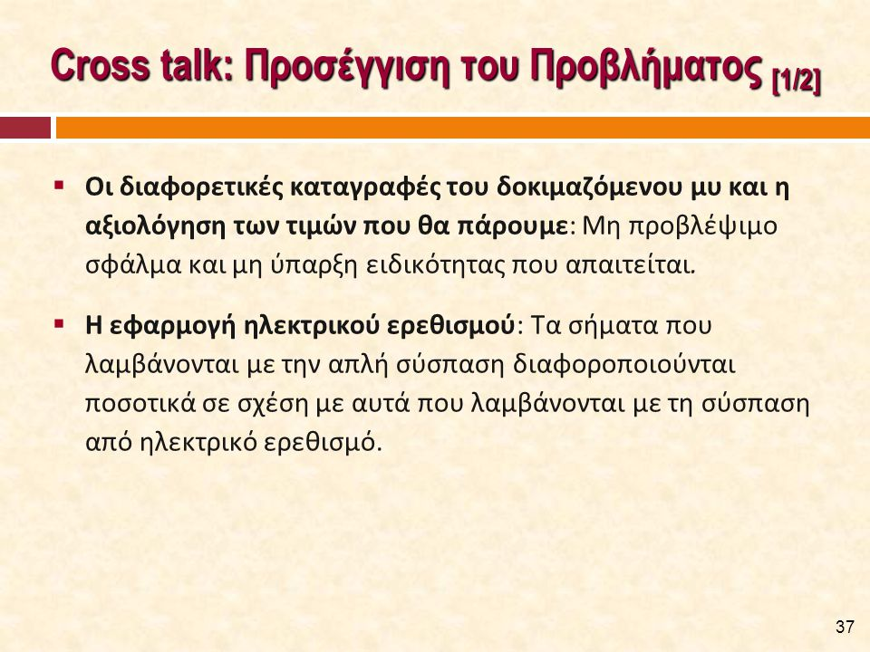 Cross talk: Προσέγγιση του Προβλήματος [2/2]